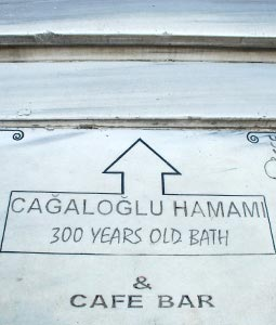 Turkish Hammam Marble Sign